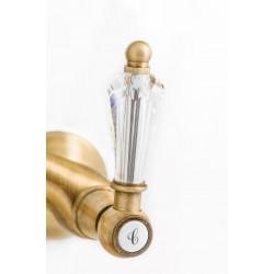 Gaboli Luigi Armonia Cristal bateria prysznicowa ścienna z uchwytami Swarovskiego DO KOLUMNY, 616SW stare złoto