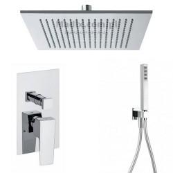 Gaboli Luigi CHEOPE zestaw prysznicowy podtynkowy z deszczownicą 300mm kwadratową, CZ1 czarny