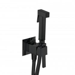 Fiore zestaw bidetta, ścienny, sluchawka kwadratowa, wąż 120cm, 30 NN 8595 czarny