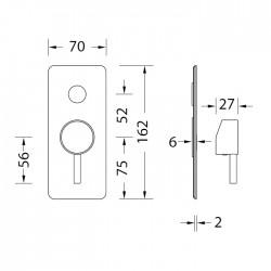 Eurorama NET bateria natryskowa, podtynkowa, PE145030SLQ biały