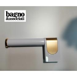 Bagno & Associati CLASS uchwyt na papier toaletowy CL23540 BIAŁY/ZŁOTO