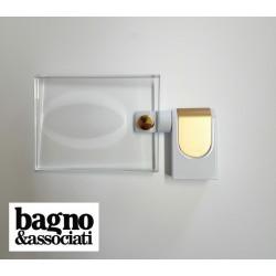 Bagno & Associati CLASS mydelniczka szklana wisząca CL12340 BIAŁY/ZŁOTO