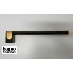 Bagno & Associati CLASS uchwyt łazienkowy na ręcznik L-35cm CL21565 GRAFIT/ZŁOTO