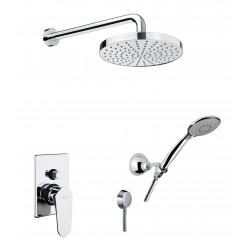 Fiore KEVON zestaw prysznicowy podtynkowy ze słuchawką i deszczownicą chrom / czarny / biały 81CR6519