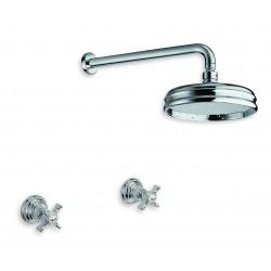 Cristina Rubinetterie Canova zestaw prysznicowy podtynkowy  CN 117 złoto