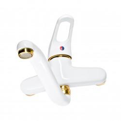 Carlo Frattini Bateria umywalkowa  biała/złoto CF 3