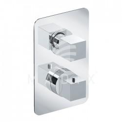 Eurorama Bateria prysznicowa termostatyczna Shine PE750030QMESLR (2 wyjścia) chrom