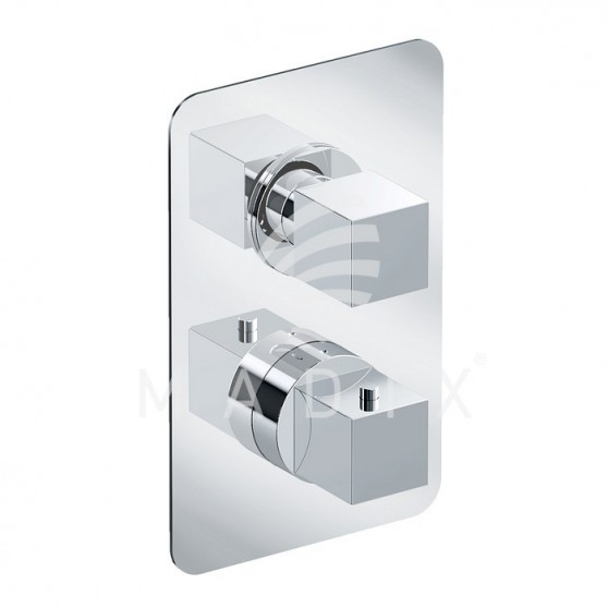 Bateria podtynkowa prysznicowa termostayczna (2 wyjścia) Eurorama Rebel PE750030NQMESLR