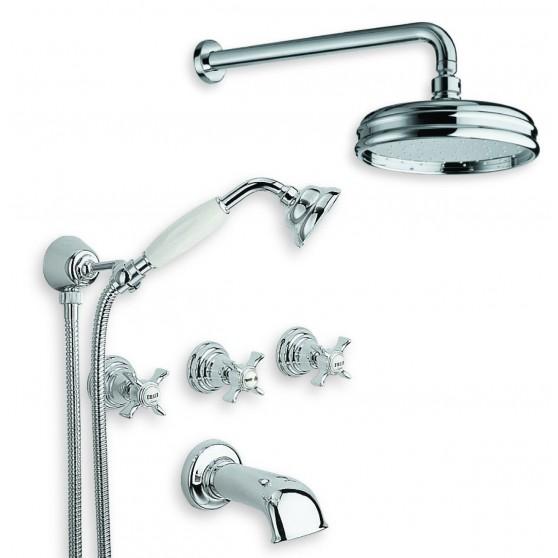 Cristina Rubinetterie Canova zestaw prysznicowo/wannowy podtynkowy CN 113