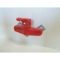 Bateria prysznicowa ścienna bez zestawu natryskowego Frisone Empty czerwona EM0016C