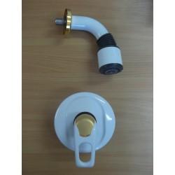 Zestaw podtynkowy biały/złoto Frisone EXEL 2515