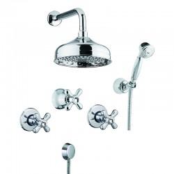 Zestaw prysznicowy Fiore Margot Sky 01 CR 0606
