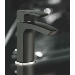 La Torre STUDIO bateria umywalkowa stojąca z korkiem czarna 31001CS