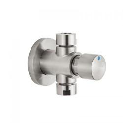 IDRAL H2O kurek ścienny natryskowy, czasowy, natynkowy, stal szczotkowana 08430