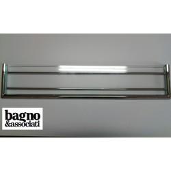 Bagno & Associati AMBIENTE półka szklana z relingiem L-60cm CHROM AM11351