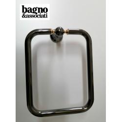 Bagno & Associati Regency wieszak na ręcznik kwadratowy grafit RE21365