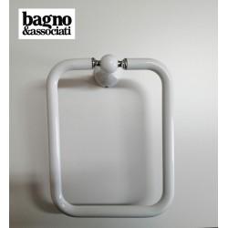 Bagno & Associati Regency wieszak na ręcznik kwadratowy biały/chrom RE21326