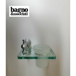 Bagno & Associati Regency wieszak na ręcznik L-40cm biały/chrom RE21126