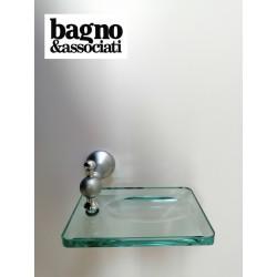Bagno & Associati Regency mydelniczka szklana, uchwyt satyna RE12376 CHROM