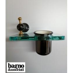 Bagno & Associati Regency kubek wiszący grafit/ złoto RE15365