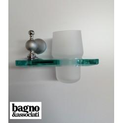Bagno & Associati Regency kubek wiszący szklany chrom matowy RE14356