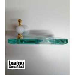 Bagno & Associati Regency kubek wiszący szklany biały/zloto RE14340