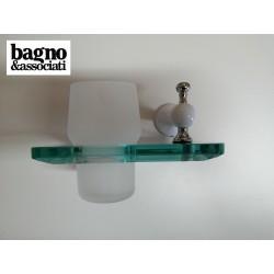 Bagno & Associati Regency kubek wiszący szklany biały/chrom RE14326