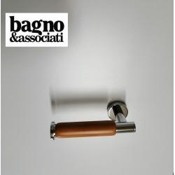Bagno & Associati OTELLO uchwyt na papier toaletowy jasne drewno/chrom  OT23551