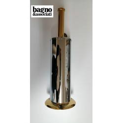 Bagno & Associati CLASS szczotka WC stojąca chrom/złoto CL25351