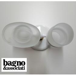 Bagno & Associati STUDIO mydelniczka stojąca mosiężna z kubkiem ST77340 biała/złoto