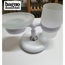 Bagno & Associati STUDIO mydelniczka stojąca mosiężna ST77303 biała