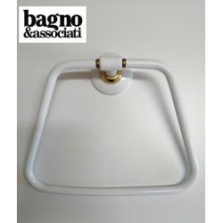 Bagno & Associati STUDIO wieszak na ręcznik biały/złoto ST21340