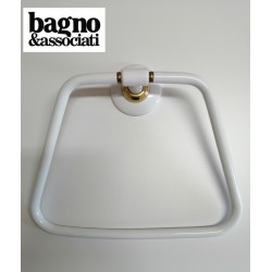 Bagno & Associati STUDIO wieszak na ręcznik ST21340  biały/złoto