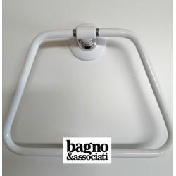 Bagno & Associati STUDIO wieszak na ręcznik biały/chrom ST21326