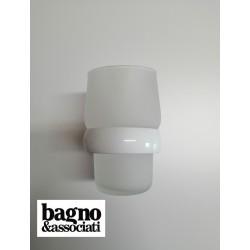 Bagno & Associati STUDIO kubek wiszący  ST14326 biały/chrom