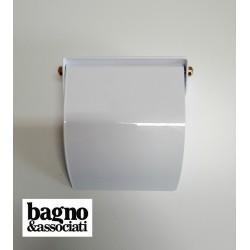 Bagno & Associati STUDIO uchwyt na papier z klapką biały/złoto ST23640