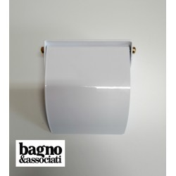 Bagno & Associati STUDIO uchwyt na papier z klapką  ST23640 biały/złoto