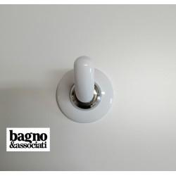 Bagno & Associati STUDIO wieszak punktowy  STU241 biały/chrom
