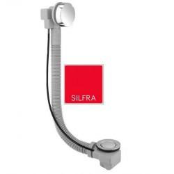 Silfra przelew wannowy / syfon automatyczny Up&down grafit 052175164