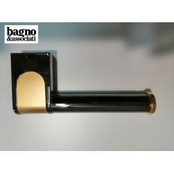 Bagno & Associati CLASS uchwyt na papier toaletowy CL23565 GRAFIT/ZŁOTO