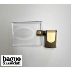 Bagno & Associati CLASS mydelniczka szklana wisząca CL12365 GRAFIT/ZŁOTO