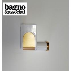 Bagno & Associati CLASS wieszak łazienkowy punktowy CL243 BIAŁY/ZŁOTY