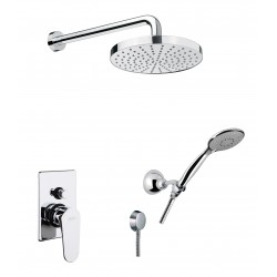 Fiore KEVON zestaw prysznicowy podtynkowy ze słuchawką i deszczownicą 81CR6519 chrom