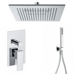 Gaboli Luigi CHEOPE zestaw prysznicowy podtynkowy z deszczownicą 300mm kwadratową, CZ1 chrom