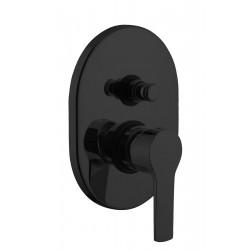 Gaboli Luigi KHUGA bateria wannowo- natryskowa podtynkowa K70 czarny